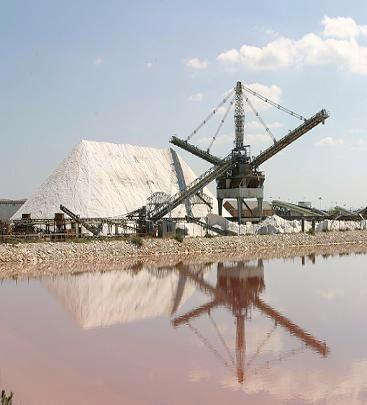 Saline di Margerita di Savoia, dune di sale